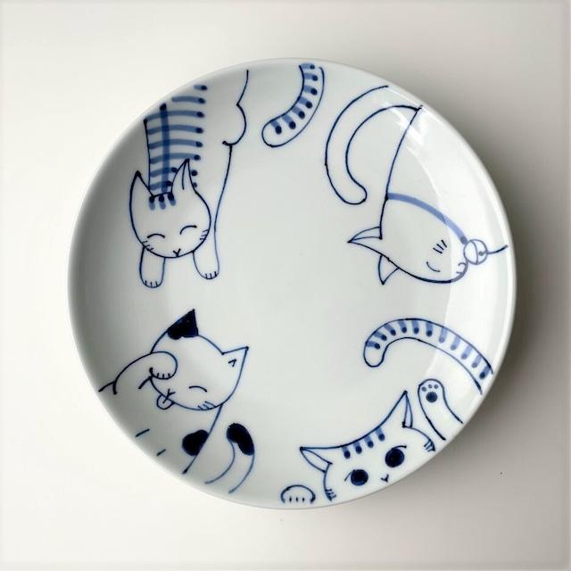 【1点限り・伊万里焼】ねこあつめ 7寸皿
