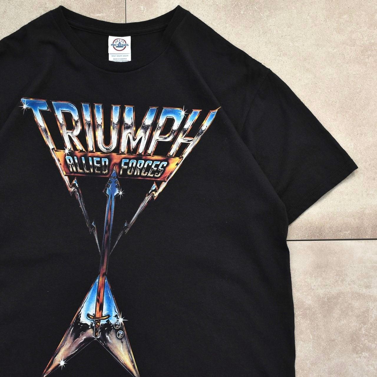 00's DELTA TRIUMPH print rock T-shirt