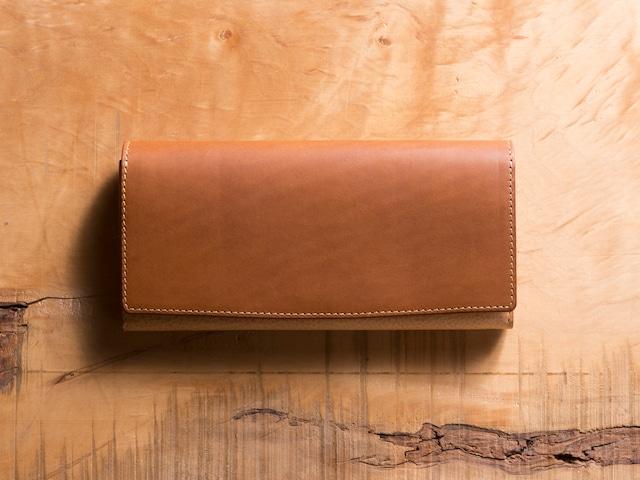 Basic Long wallet #コニャック