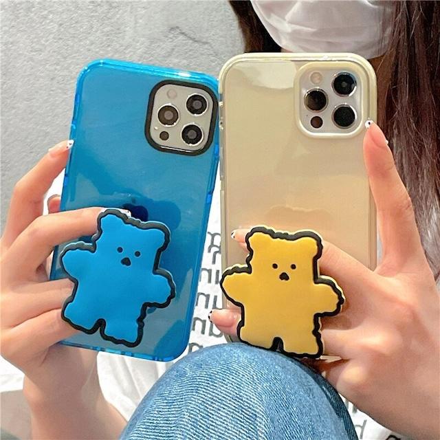 Korean cute colored bear iphone case