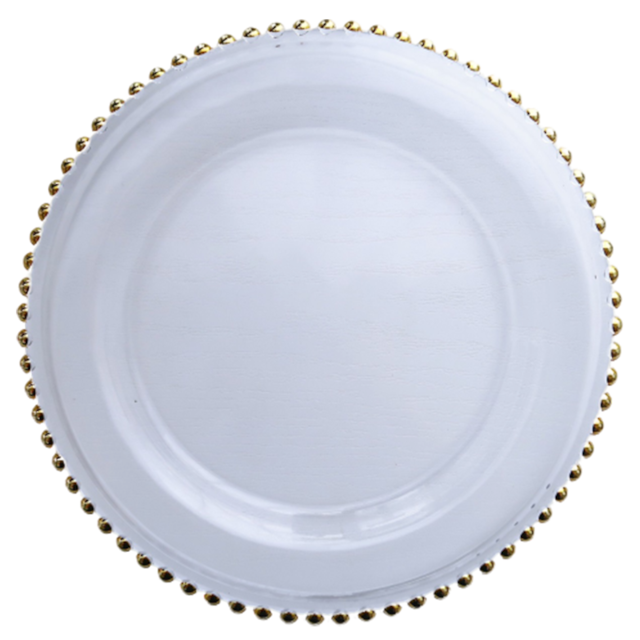 Gold lathe plate/ ゴールドドットガラスプレート 26.5cm
