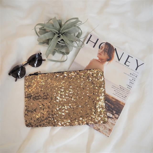 Spangle Clutch Bag《GOLD》17380669