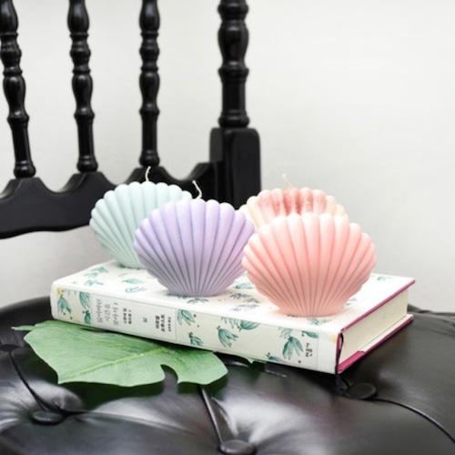 shell candle 4colors / シェルキャンドル 貝殻 韓国雑貨