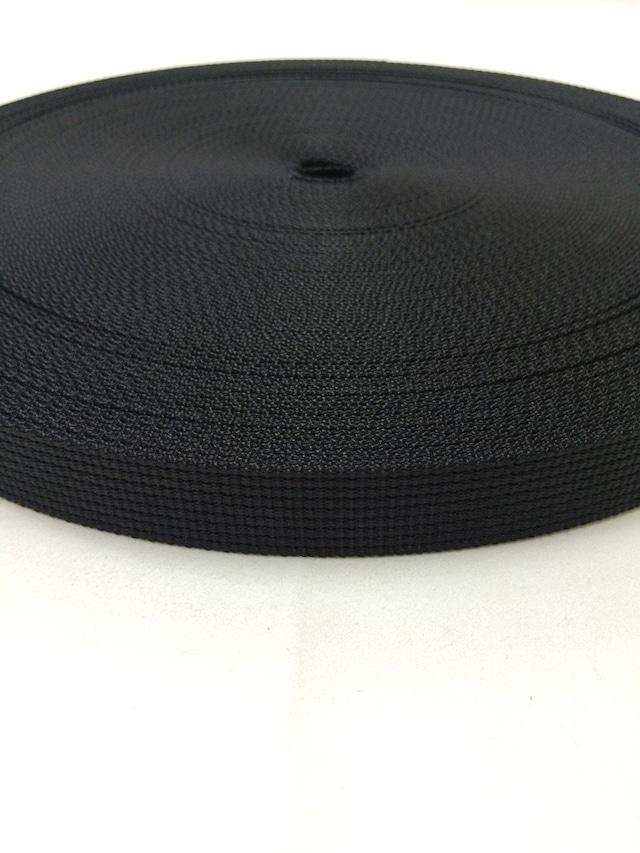 ナイロン ベルト 12本トジ 20mm幅 1.5mm厚 黒 1反(50m)