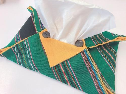 【タリアン族】ティッシュボックスケースカバー 緑