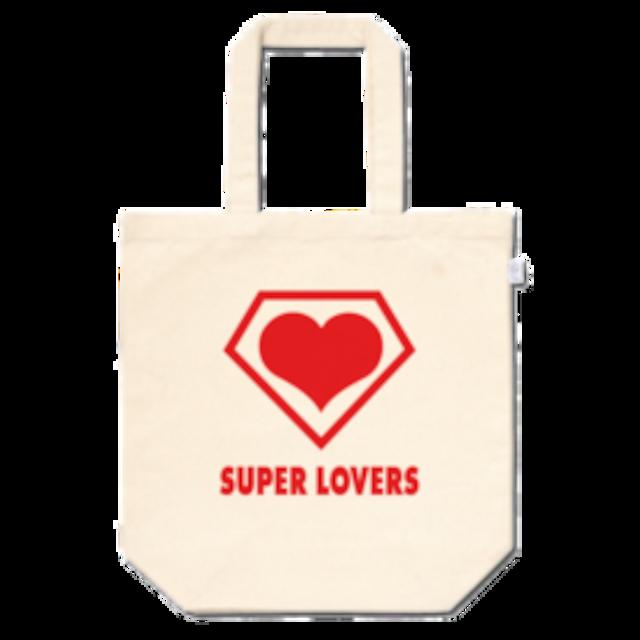 SUPER LOVERS logo/ スーパーラヴァーズトートバッグ ミドルサイズ