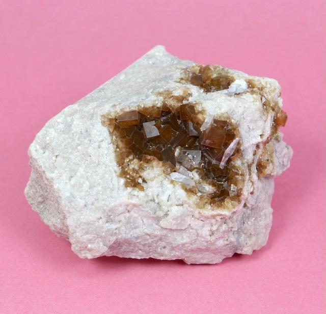 ユニーク!蛍石 + セレスタイト オハイオ産 フローライト 原石 46,4g FL133 鉱物 天然石 パワーストーン