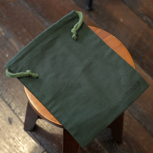 CIRCLEオリジナル 布巾着袋 グリーン
