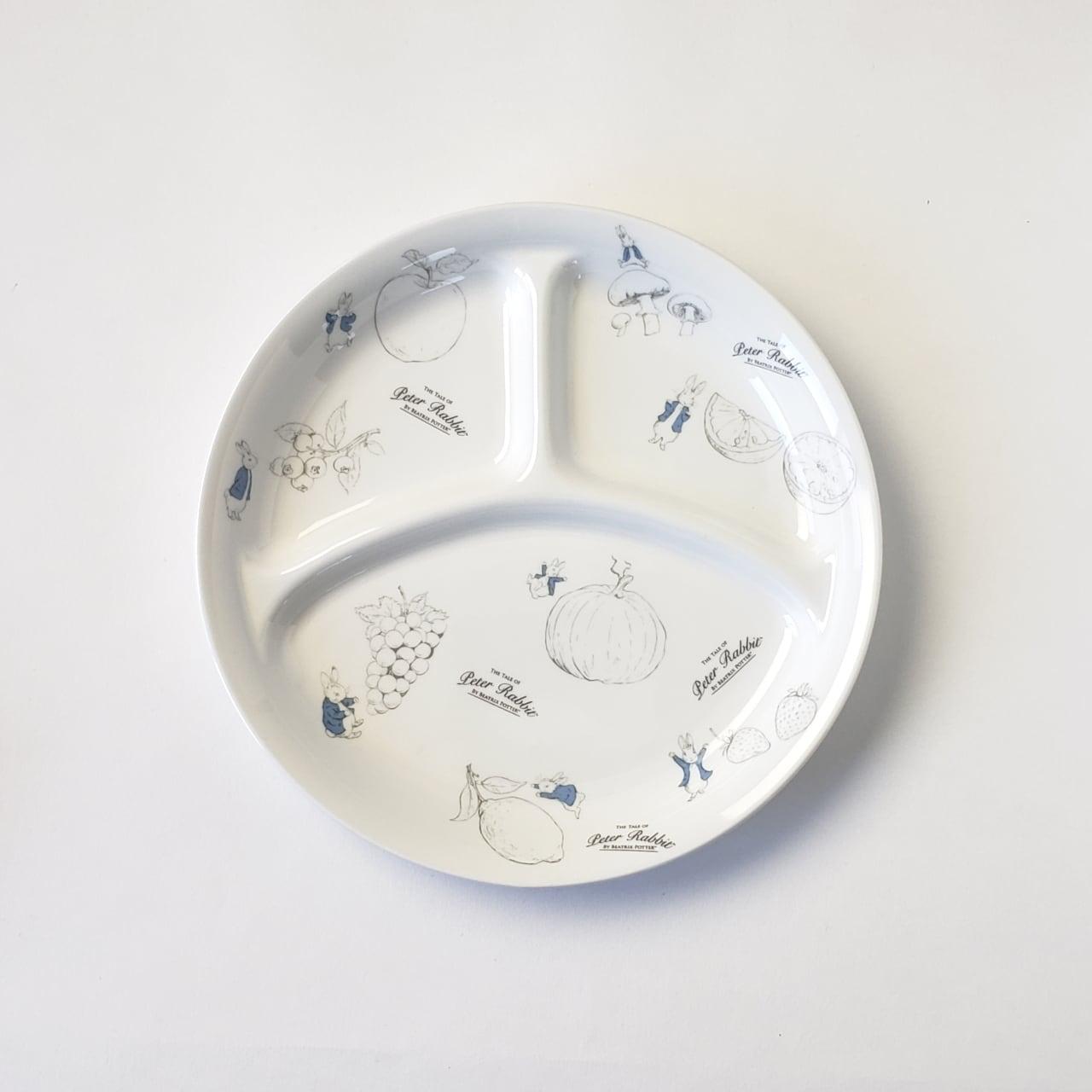 ピーターラビット 22cm 仕切皿 Fruit & Veg 強化磁器【1726-7600】