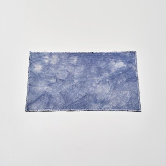 帆布で作ったランチョンマット(ブルー) 45cm×30cm