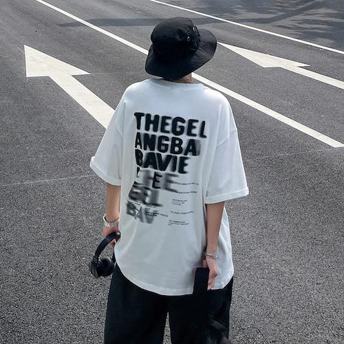 バックインパクトプリントTシャツ BL9054