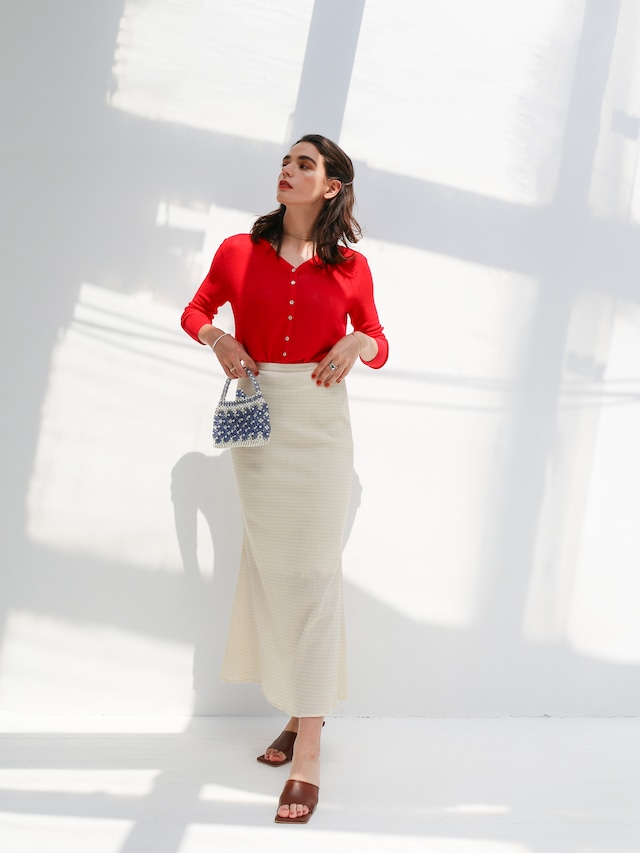 see-through cardigan(red)