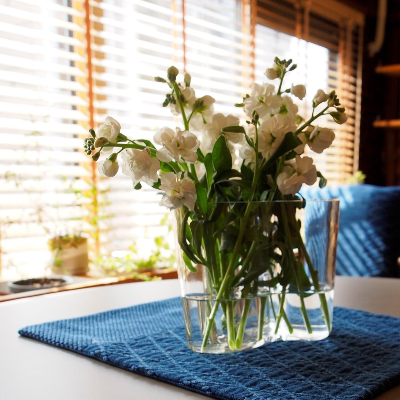 うしじま縫製 | 武州正藍染 テーブルランナー 四角 二重刺子