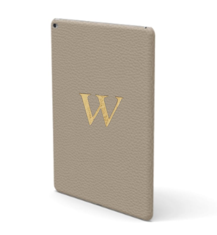 iPad Premium Shrink Leather Case (Beige)
