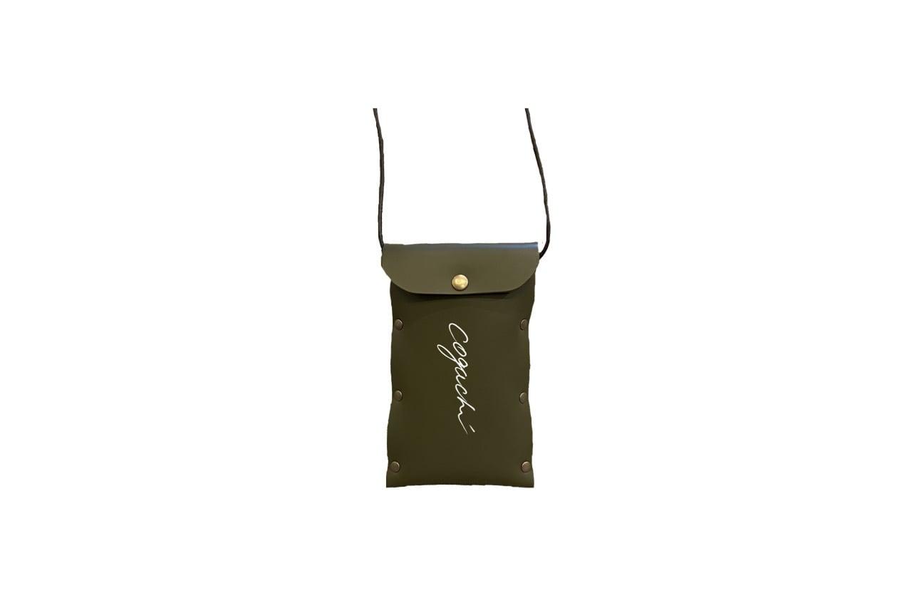 coguchi leather logo mini bag (KAKI)数量限定
