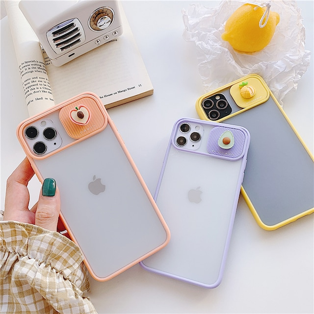 Fruit lens protector iphone case