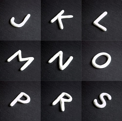 白磁 ナンバー&イニシャル(J-S)