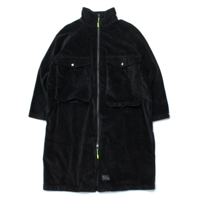 【BURNER×THE STRAIT】8ウェルストレッチコーデュロイビッグポケットコート #BLACK
