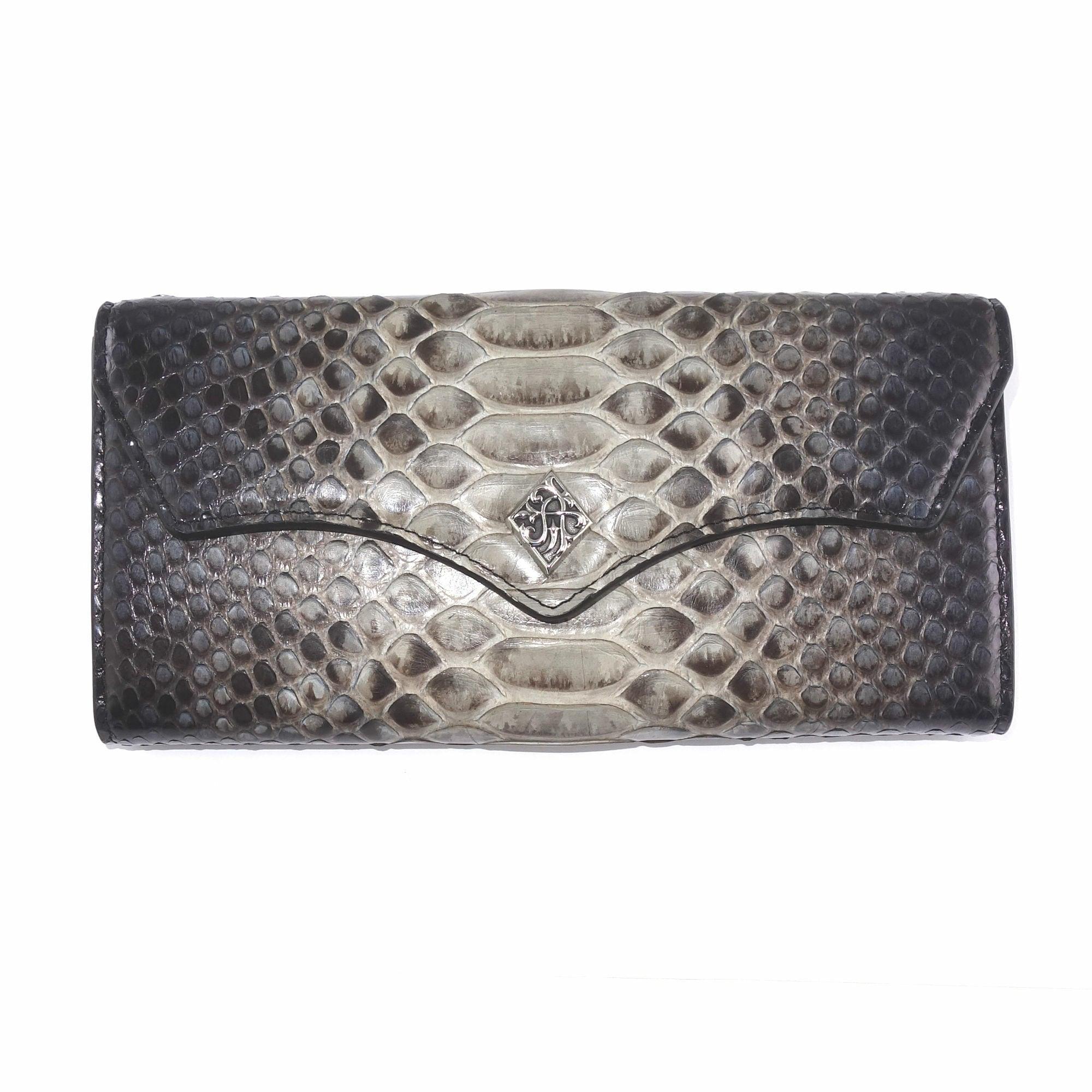 グラデーショングレーパイソンロングウォレット ACW0007 Gradient gray python long wallet
