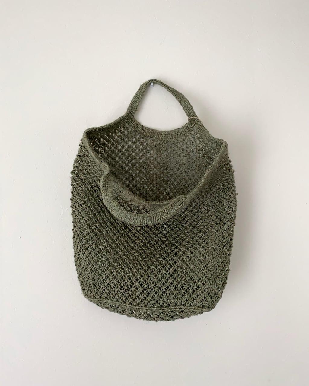 Jute macrame shopping bag Grey|ショッピングバッグ グレイ