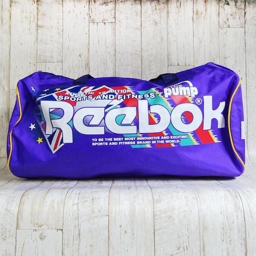 Reebok  トラベルバック パープル ナイロン製