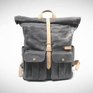 Astray Rolltop Backpack [Gray / Vachetta]