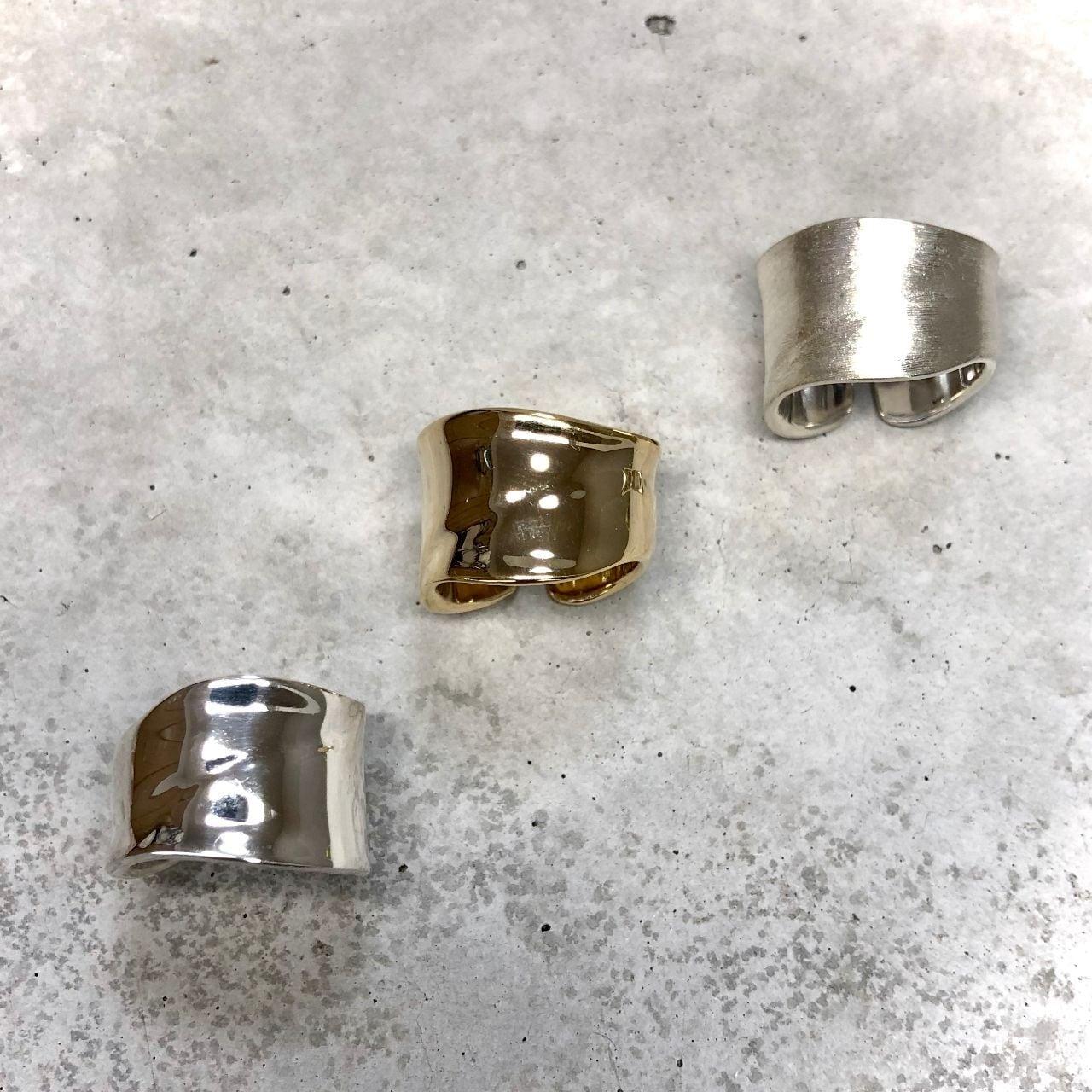 【LR-13SV】Free size simple ring <再入荷>