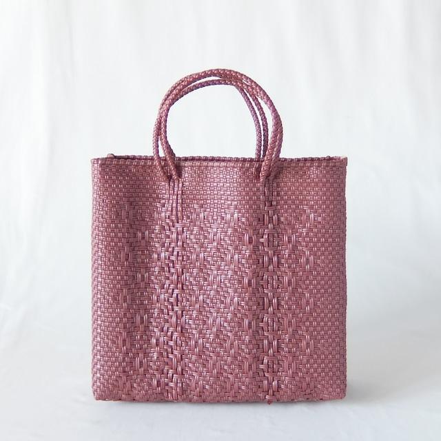 Letra - メルカドバッグ ROMBO - Metallic Pink - サイズS
