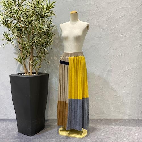 Blanc basque/ACライン入りニットスカート