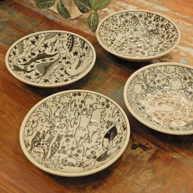 美濃焼 いきものずかんミニ深皿 全5種