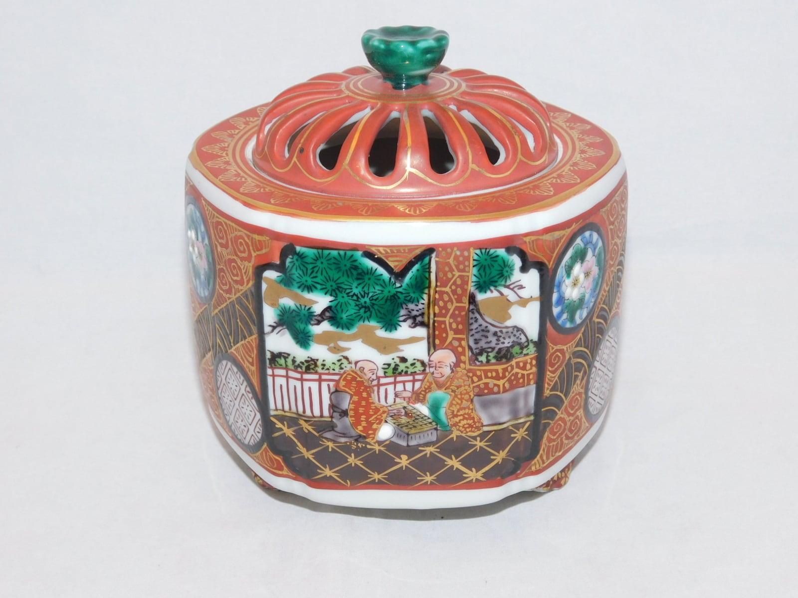 九谷庄三香炉 Kutani porcelain incense burner (Syouza kiln)