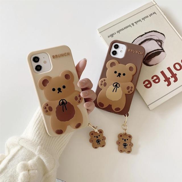 3Dcute kuma iphone case
