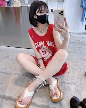 """""""converse"""" vintage basketball tank top - red -"""