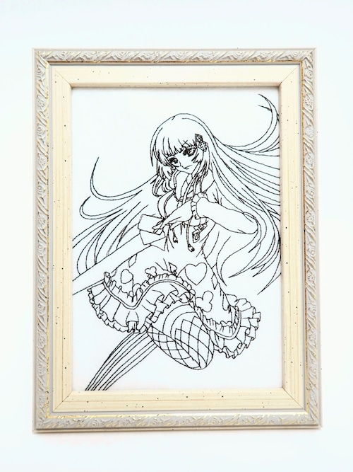キャラ縫い額装刺繍 王女シャッフル「ランス・オン・アージェントの軌跡」