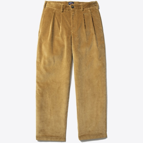 Double-Pleat Corduroy Trouser(Fawn)