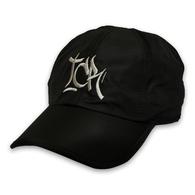 T.C.R BIG LOGO SPORTS SHELL CAP - BLACK/GRAY