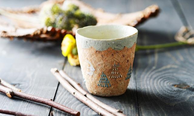 雫の森 | 陶器 | 高い空 | フリーカップ |こむろしずか