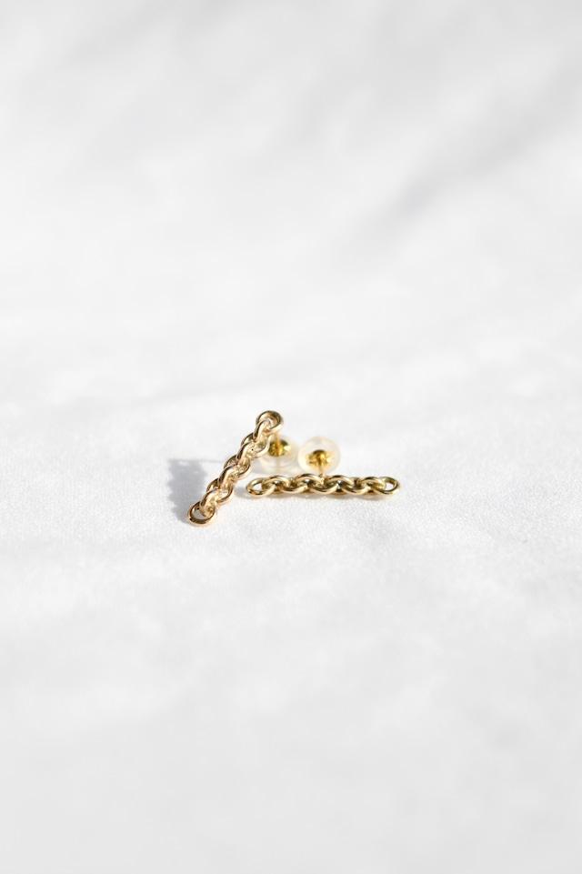 K10 Lian Straight Studs Earrings 10金リアンストレートスタッズピアス