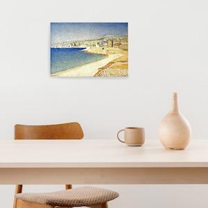 素敵なアートパネル A4サイズ カシスの桟橋 ポール・シニャック