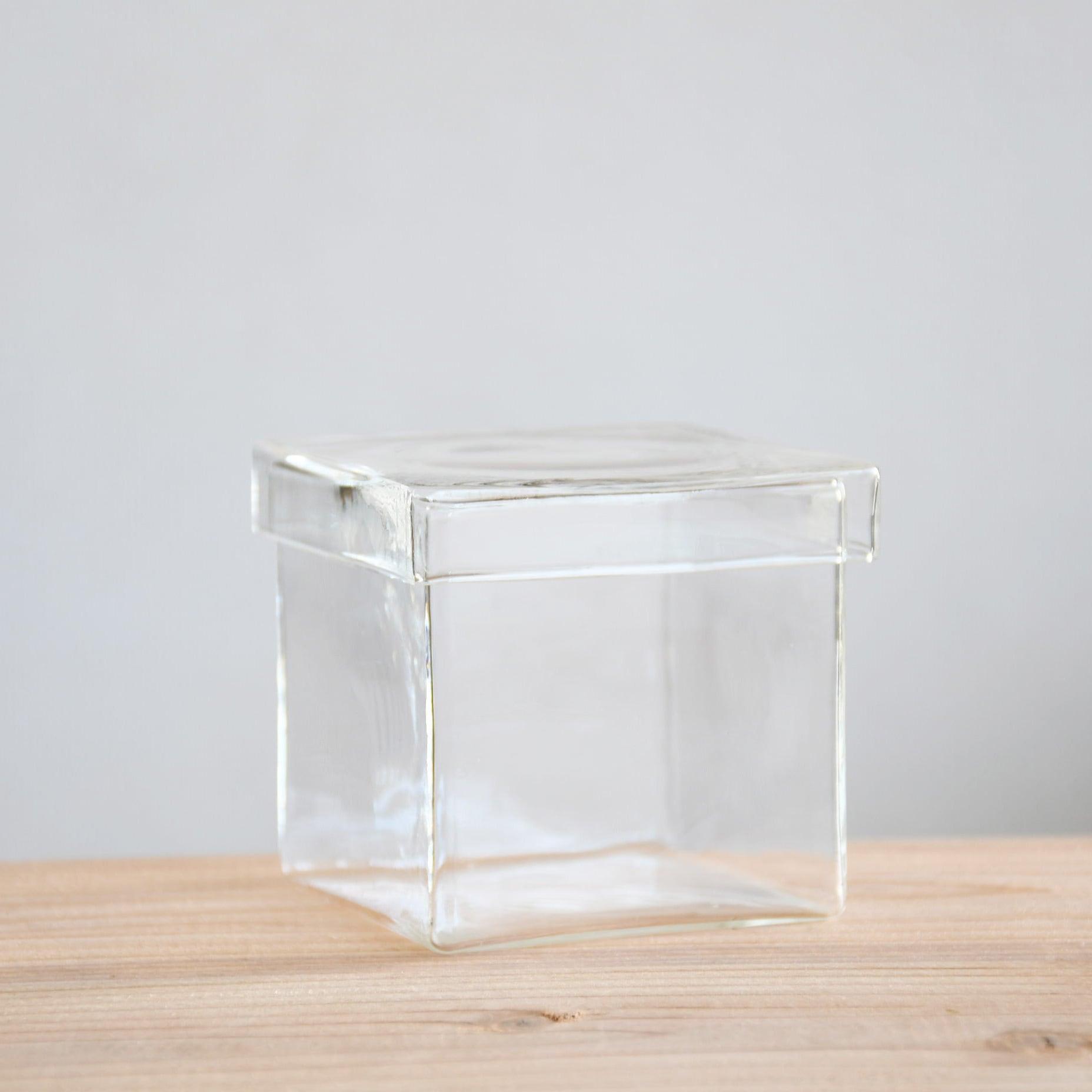 【ガラス容器】BOX M(80x80xh73mm)◆初めての苔テラリウム作りにおススメ