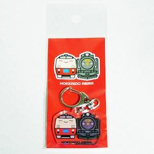【e-TRAIN SHOP限定】【キハくん&デゴイチせんぱい】アクリルキーホルダー