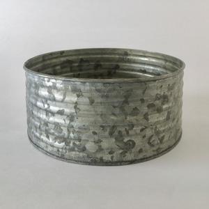 ブリキのポット 波型ワイド L|Tin Pot Wave Shape Wide L