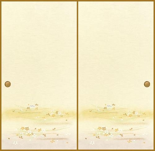 吉兆109(1枚柄) 織物ふすま紙 203cm×100cm 1枚