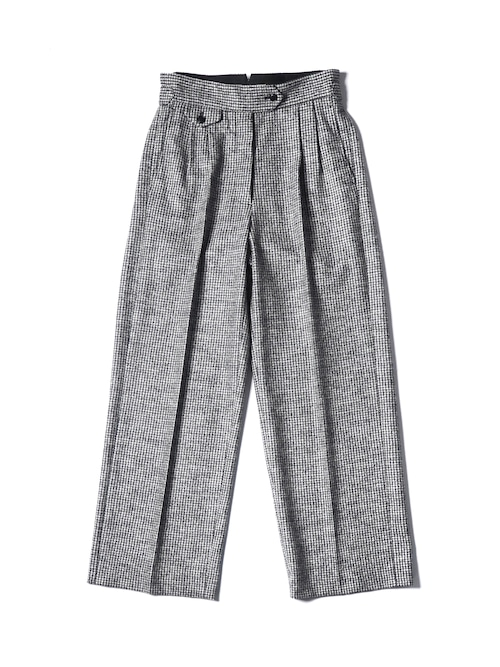 【WRYHT】KNOTTED BACK PLEATED TROUSER