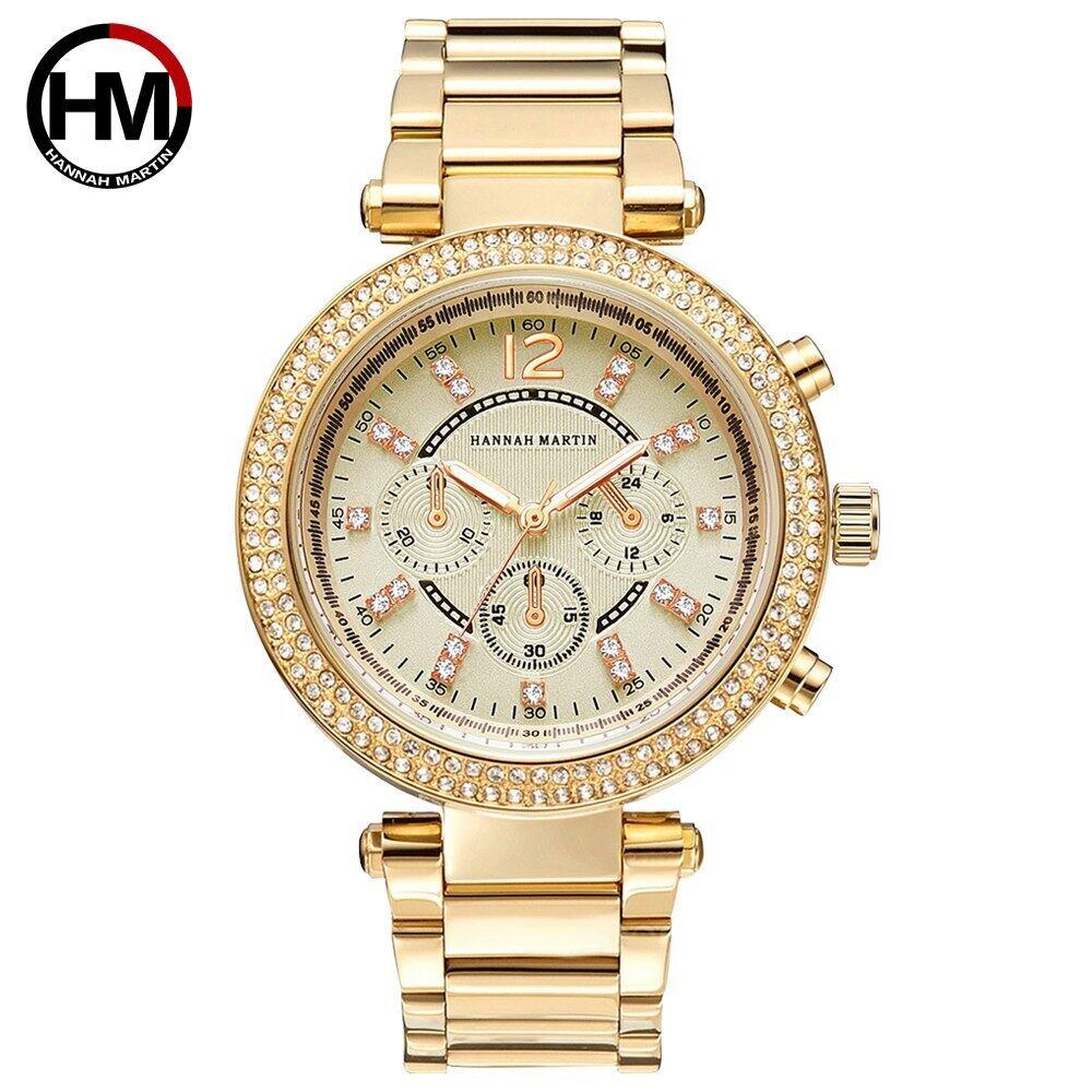 時計女性防水高級ブランドファッションクラシックダイヤモンドレディースギフトドレスクォーツ耐衝撃性ビジネスRelogioFeminino1196-GOLD