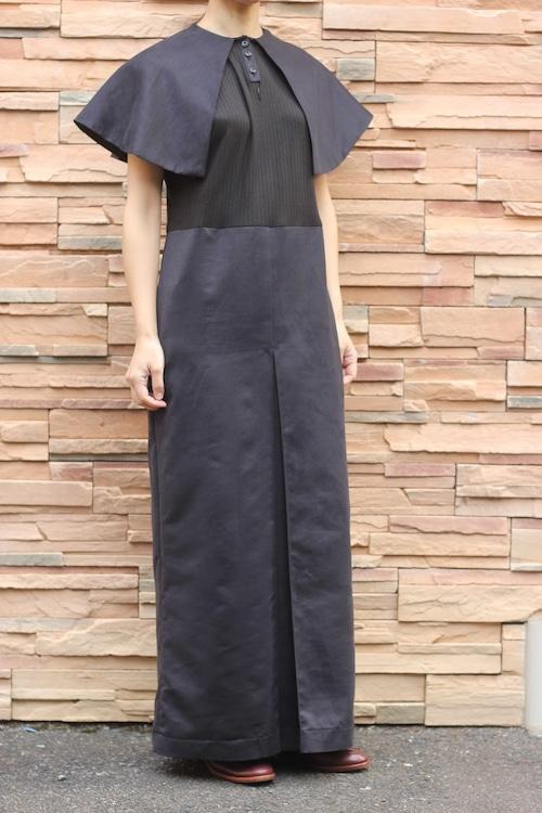 Big collar dress /Black