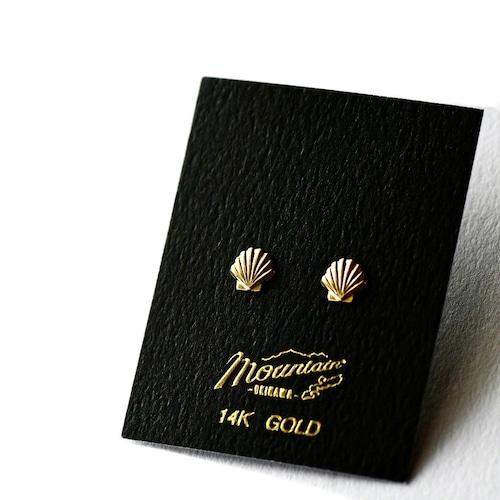 ハワイアンジュエリー / 14K YELLOW GOLD ピアス / サンライズシェル