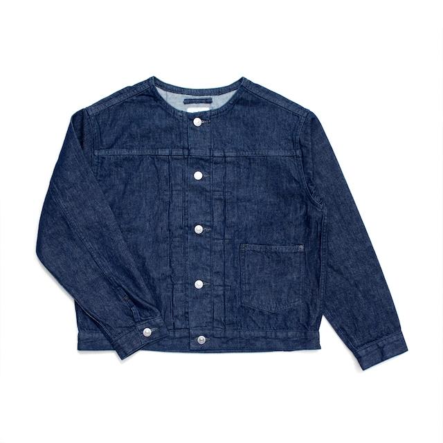 atelier naruse cotton denim no collar jacket / アトリエナルセ コットンデニム ノーカラージャケット