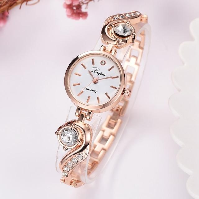 LVPAI LT-R1787(gold-white) レディース腕時計