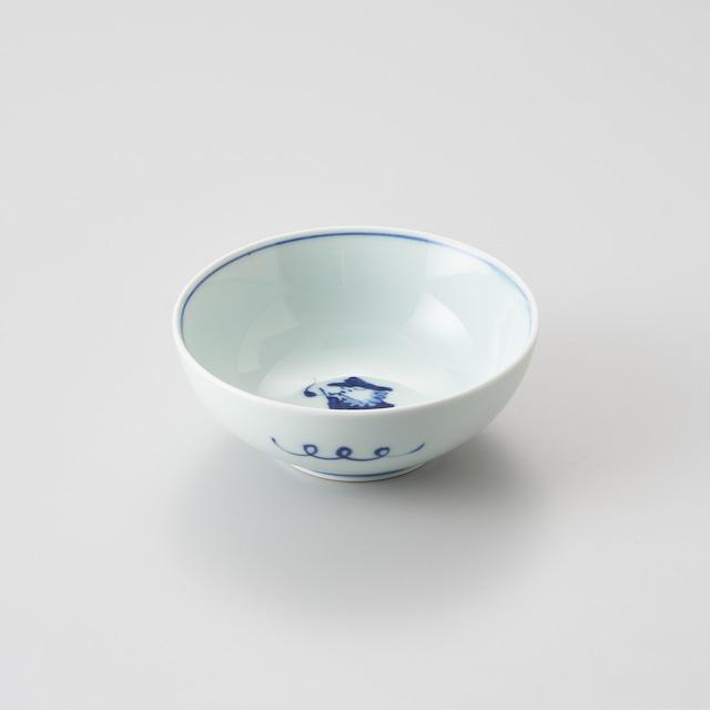 """【青花】""""クラシック異人"""" 4寸ボウル(パイプ異人)"""